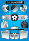 Info graphic football on blue background Stock Image