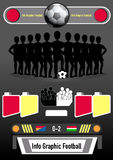 Info graphic football and business Stock Photos