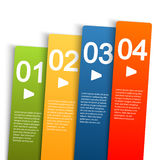 Info graphic with four options. Info graphic template with four colored stripes for different options Royalty Free Stock Images