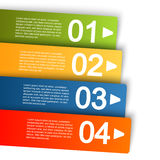 Info graphic with four options. Info graphic template with four colored stripes for different options Stock Photos