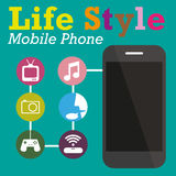 Info graphic Function Technology of Mobile phone Stock Images