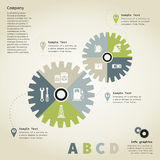 Info graphic gear wheel Stock Photo