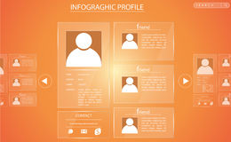 Info graphic glass profile Royalty Free Stock Photos