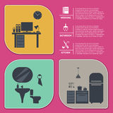 Info graphic of house interior vector illustration Stock Images