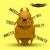 Info graphic illustration design vector of american pitbull terrier dog Stock Photo