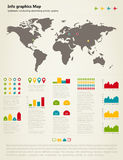 Info graphic map Royalty Free Stock Image