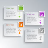 Info graphic options design template Stock Photo