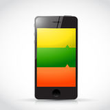 Info graphic phone illustration design Royalty Free Stock Photo