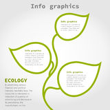 Info graphic plant Royalty Free Stock Photography