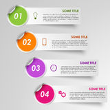 Info graphic progress stickers template Royalty Free Stock Photo