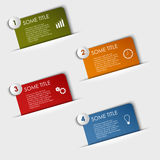 Info graphic rectangular labels in your pocket Stock Photography