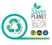 Info graphic recycle ecological icon design Royalty Free Stock Image