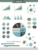 Info graphic set elements. Stock Photography