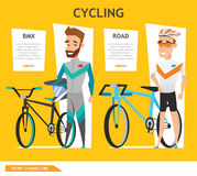 Info graphic sport cycling vector Royalty Free Stock Image