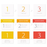 Info-graphic step banner set Royalty Free Stock Photography