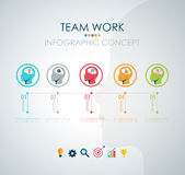 Info graphic teamwork. Business concept. Vector Stock Photo