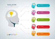 Info graphic teamwork. Business concept. Vector Stock Image