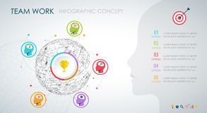 Info graphic teamwork. Business concept. Royalty Free Stock Image