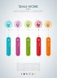 Info graphic teamwork. Business concept. Stock Photos