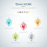 Info graphic teamwork. Business concept. Stock Images