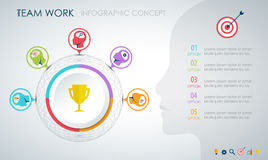 Info graphic teamwork. Business concept. Royalty Free Stock Photos