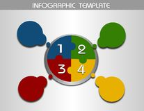Info graphic template circle for four steps Stock Photos