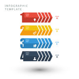 Info graphic template in flat colors on white background. Royalty Free Stock Photo
