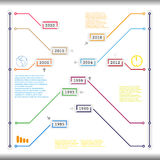 Info graphic time line  template Royalty Free Stock Image