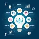 Info graphic vector Royalty Free Stock Photography
