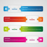 Info graphic. Web banner strips Royalty Free Stock Photos