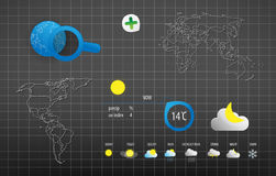 Info graphic world weather Royalty Free Stock Photo