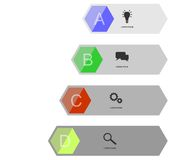 Info graphics banner Royalty Free Stock Images
