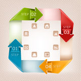 Info graphics banner with icons. Retro design temp Royalty Free Stock Photography