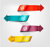 Info graphics banner with numbers. Royalty Free Stock Photography
