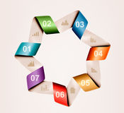 Info graphics banner with numbers. Retro design te Royalty Free Stock Photos