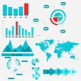 Info graphics, business graphics. Info graphics for business or presentation Stock Image
