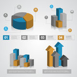 Info graphics chart. This is color full info graphic vector file use any size Stock Images