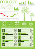 Info graphics collection. Green ecology info graphics collection, charts, world map, graphic vector element Stock Photography