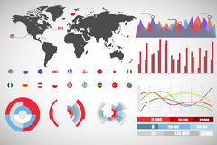 Info graphics collection. Colletion of  infographics in different styles Royalty Free Stock Photos