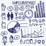 Info graphics doodle set Royalty Free Stock Photo