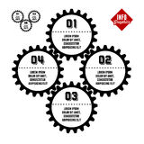 Info-graphics with gear. Vintage retro info-graphics with gear Stock Images