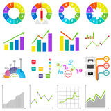 Info graphics, graph, diagram, analysis. A large set of graphs. Flat design, vector illustration, vector Stock Photos