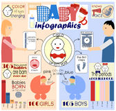 Info graphics and interesting facts about little children Stock Image