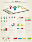 Info graphics Royalty Free Stock Images
