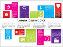 Info Graphics With Icons Royalty Free Stock Photo