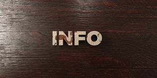 Info - grungy wooden headline on Maple  - 3D rendered royalty free stock image Royalty Free Stock Photography