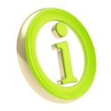 Info I letter in a circle as information emblem Royalty Free Stock Photos