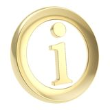 Info I letter in a circle as information emblem Royalty Free Stock Photo