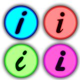 Info icon. Some icons about universal information sign Royalty Free Stock Photo