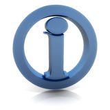Info icon. Blue information icon. Can be used as help, manual, contact, etc. icon. Perspective view Royalty Free Stock Image